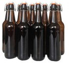 750ml Amber Flip Top Bottles x 12
